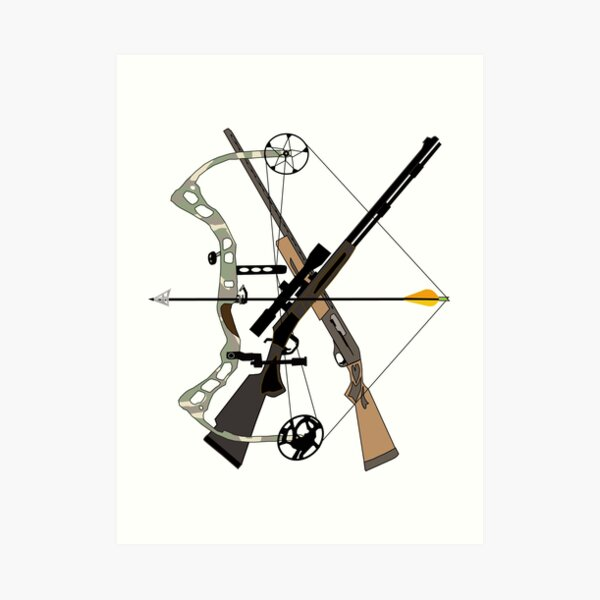 Hunter Toys, Hunting, Weapons, Hunter Gifts Art Print