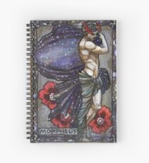 Morpheus in poppies Spiral Notebook