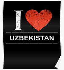 I Love Uzbekistan Gift For Uzbekistani or Uzbek UZBEKISTAN T-Shirt Sweater Hoodie Iphone Samsung Phone Case Coffee Mug Tablet Case Poster