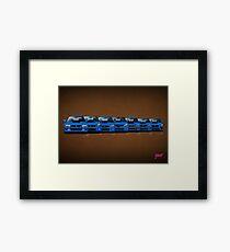 Subaru WRX STi generations - V1 Framed Print