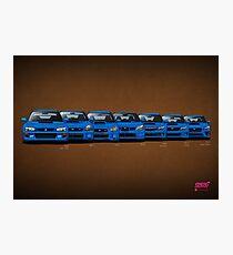 Subaru WRX STi generations - V1 Photographic Print