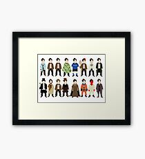 The Doctor's Wardrobe - Eleven Framed Print