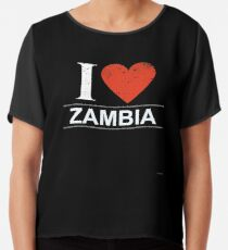 Ich liebe Sambia Geschenk für Sambia Sambia T-Shirt Pullover Hoodie Iphone Samsung Handytasche Kaffeebecher Tablet Case Chiffontop