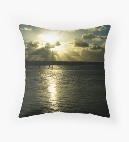 Hillarys sunset 1 Throw Pillow
