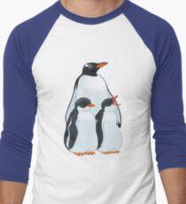 Penguin Party Men's Baseball ¾ T-Shirt