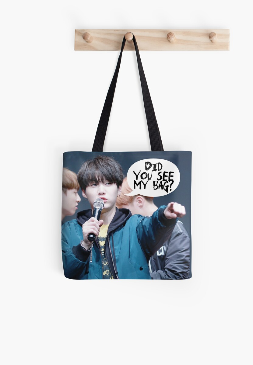 Quot Bts Suga Mic Drop Did You See My Bag Quot Tote Bag By