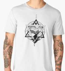 Saturn's Return in Sacred Geometry Men's Premium T-Shirt