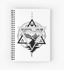 Saturn's Return in Sacred Geometry Spiral Notebook