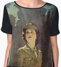 WWII WAC Poster Women's Chiffon Top