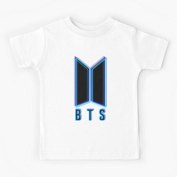 BTS - Neon Logo  Kids T-Shirt