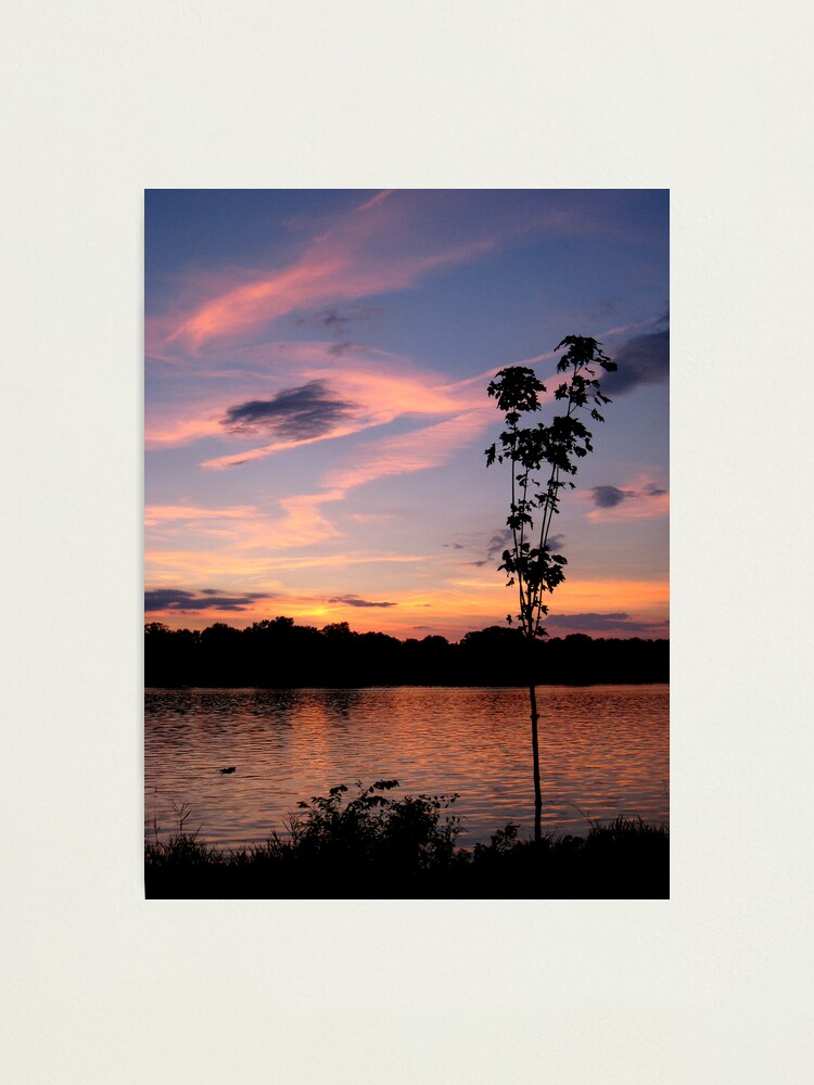 Alternate view of Sunset over the Rock River Photographic Print