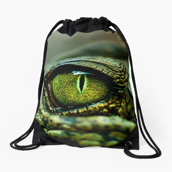 Eye of the Crocodile [iPad / Phone cases / Prints / Decor] Drawstring Bag