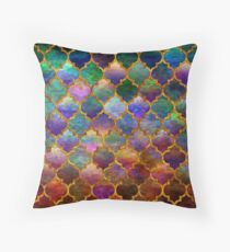 Arabic moroccan mosaic pattern Throw Pillow