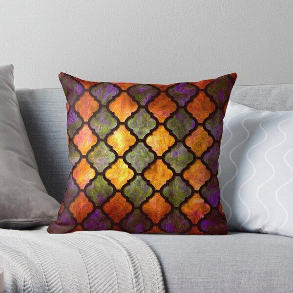 Moroccan pattern arabic design Throw Pillow