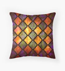 Moroccan pattern arabic design Throw Pillow
