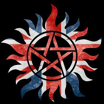 Supernatural Union Jack Anti-Possession Print by TumblrVerse