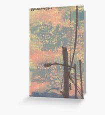 telephone wires and lamp Greeting Card