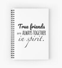 Cuaderno de espiral Anne of Green Gables: los verdaderos amigos siempre están juntos