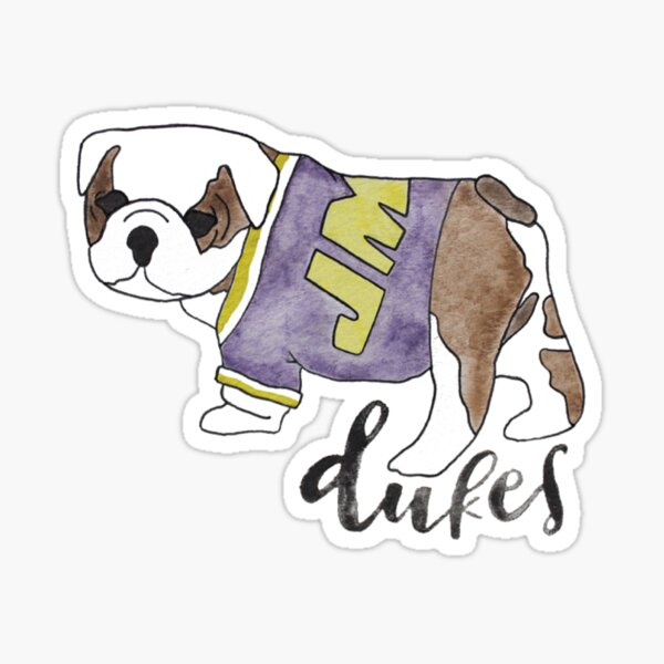 Watercolor Duke Dog Sticker