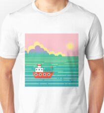 Sunset ship T-Shirt