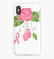 Breast Cancer Flower iPhone Case/Skin