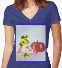 Fall Season Women's Fitted V-Neck T-Shirt