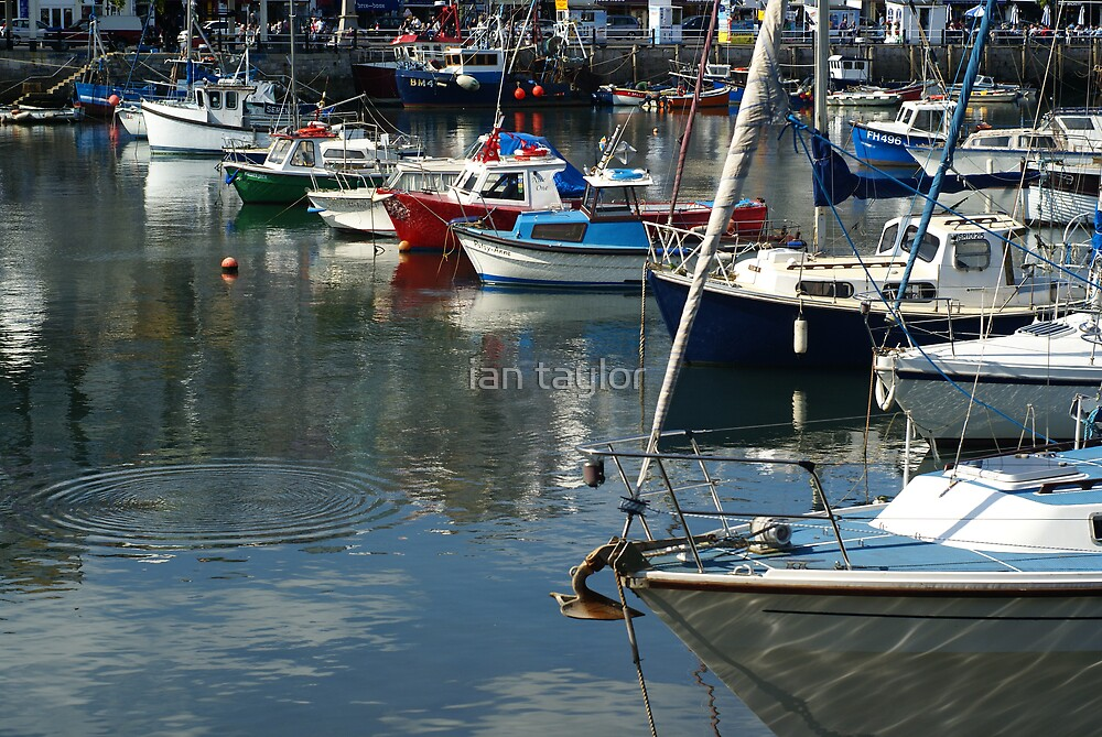 boats in brixham  by ian taylor