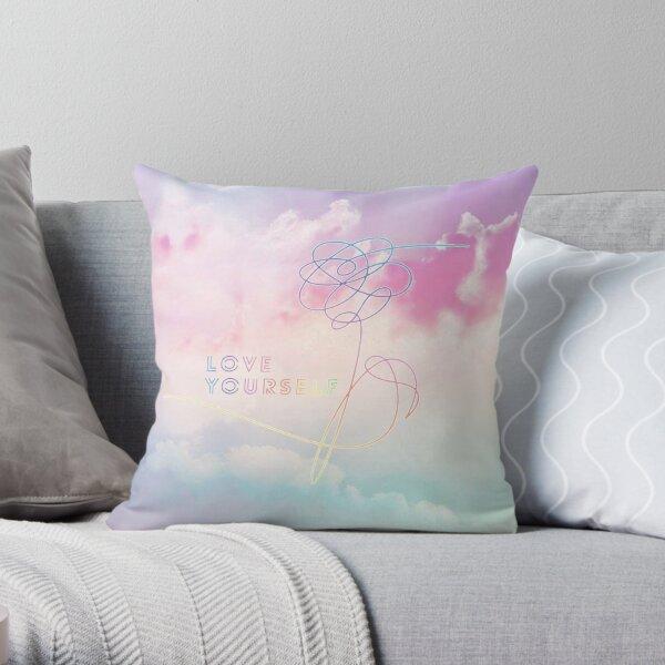 Love Yourself Her Pastel Clouds BTS Bangtan Kpop Merch Throw Pillow