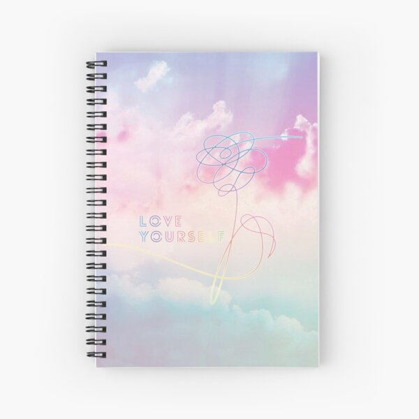 Love Yourself Her Pastel Clouds BTS Bangtan Kpop Merch Spiral Notebook