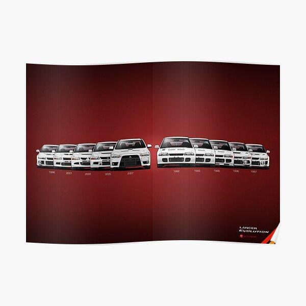 Historia - Mitsubishi Lancer Evolution - Blanco Póster