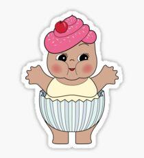Chubby Cupcake Kewpie Sticker