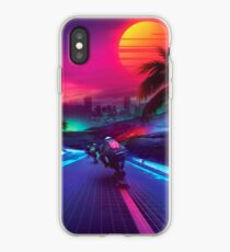 Synthwave Midnight Outrun iPhone Case