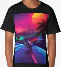 Synthwave Midnight Outrun Long T-Shirt