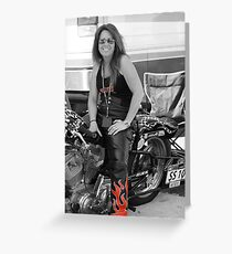 Julia Holliday AHDRA  Bike # SS - 10 Greeting Card