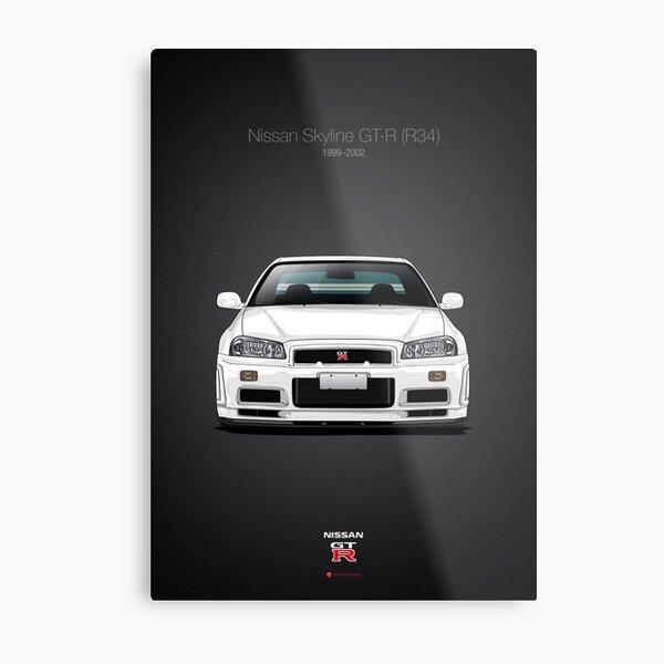 Nissan Skyline GT-R (R34) Metal Print