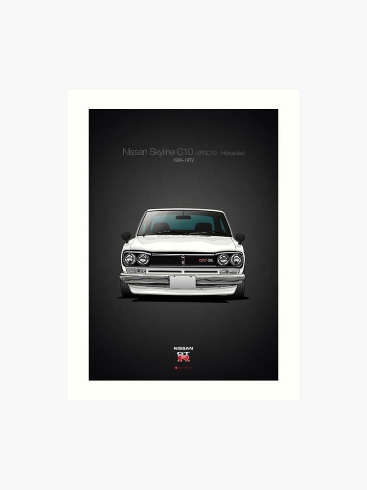 Nissan Skyline C10 (KPGC10 - Hakosuka) | Art Print