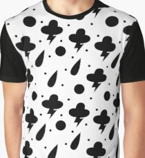 Weather black and white pattern Graphic T-Shirt