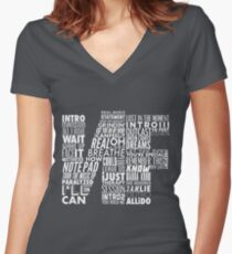 NF - Word Collaboration Design  Women's Fitted V-Neck T-Shirt