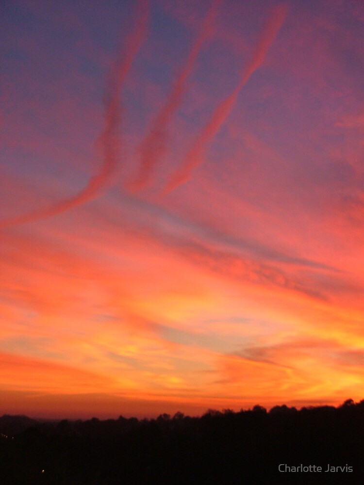 Sunset over Arundel by Charlotte Jarvis