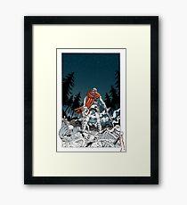 Hero Rescues the Girl Framed Print