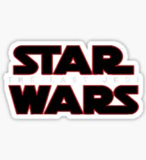 star wars episode VIII; the last jedi Sticker