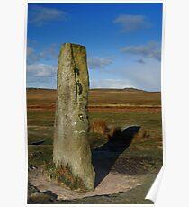 Standing Stone, Giants Basin, Dartmoor National Park Poster