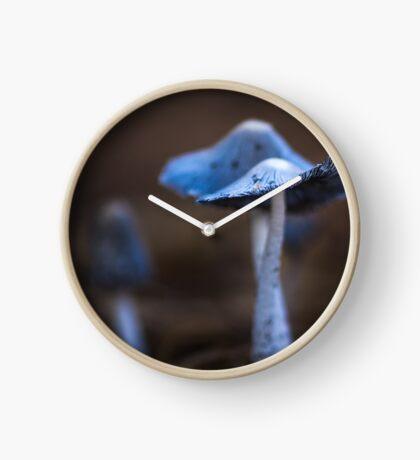 Macro Blue Fungi Clock