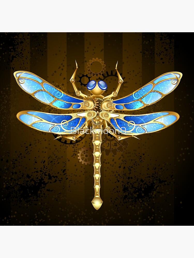 Steampunk Dragonfly Zipper Brooch