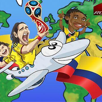 Colombia Rusia 2018 by danbrobro