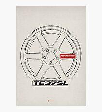 Wheel - TE37SL Photographic Print