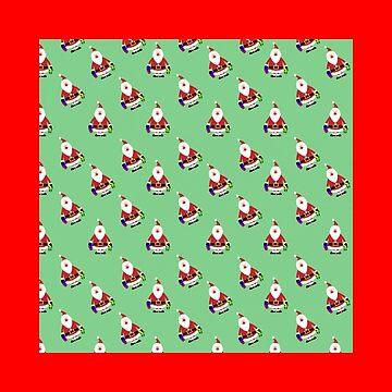 Christmass Mini Santa Claus  by WildShirtAttack