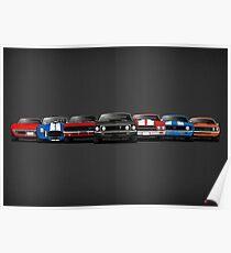 American Cars Poster