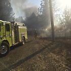 Fire Truck @ Collins Lake by Laura Puglia
