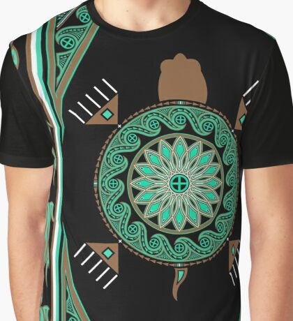 Green Turtle Graphic T-Shirt